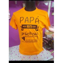 Camiseta papá en prácticas