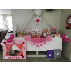 Mesa chuches rosa